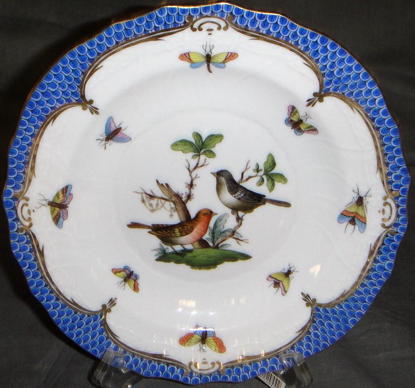 Herend Rothschild Bird Blue Border