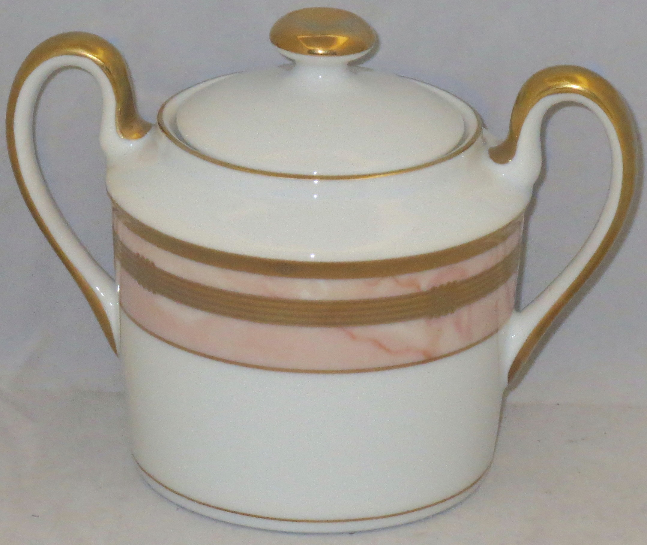 christian dior gaudron marbre rose sugar bowl lid ebay. Black Bedroom Furniture Sets. Home Design Ideas