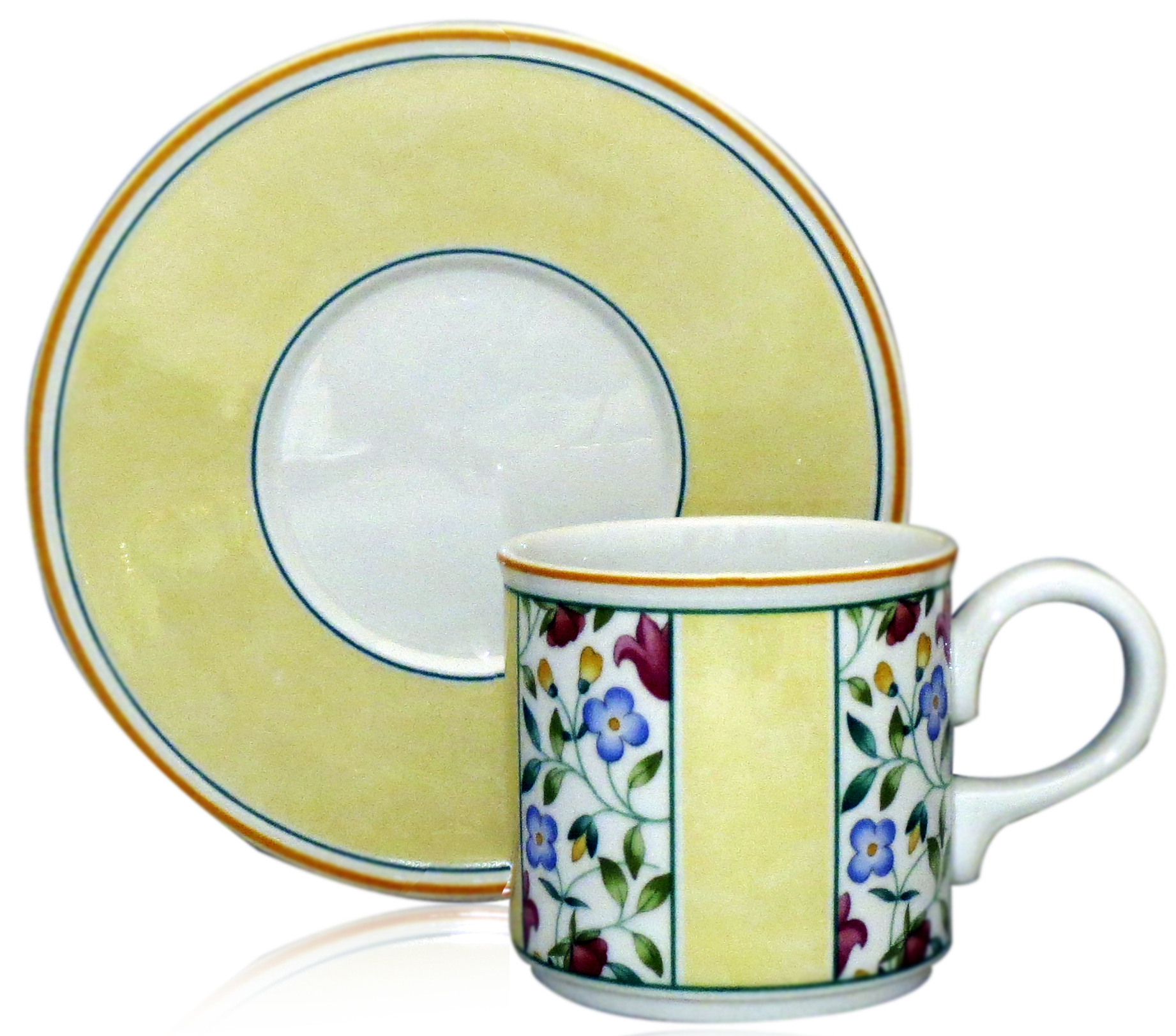 villeroy boch virginia flat cup saucer set. Black Bedroom Furniture Sets. Home Design Ideas