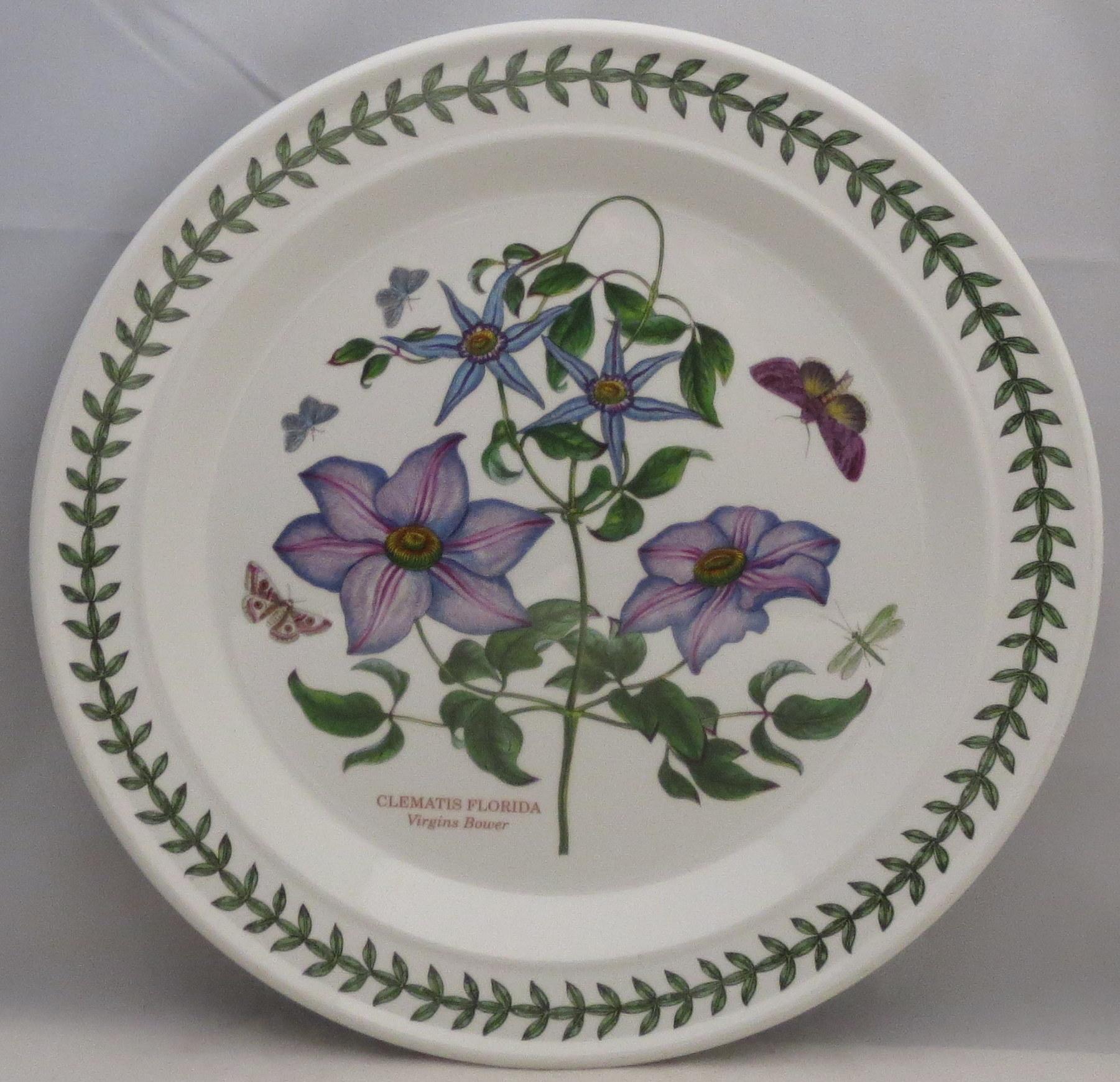 Portmeirion Botanic Garden Dinner Plate Virgins Bower Ebay