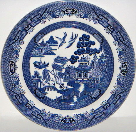 All About Churchill Blue Willow China