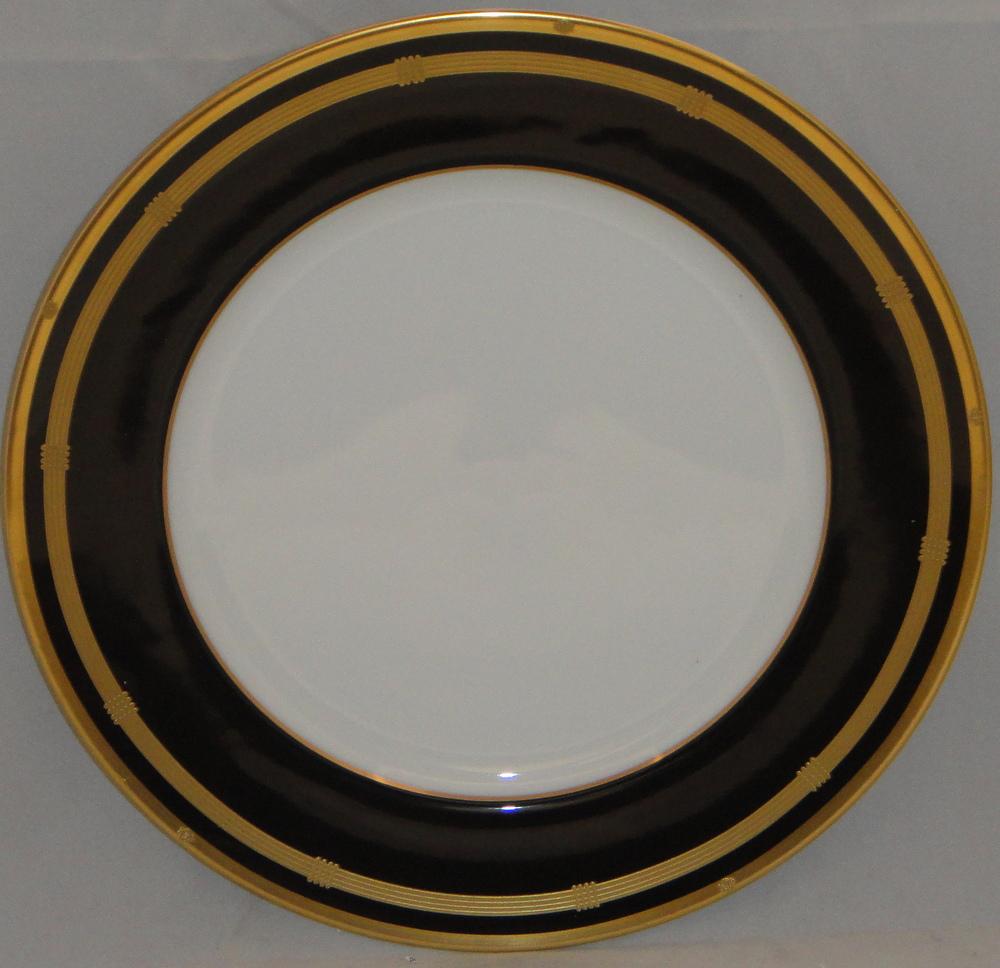 Onyx Trim Pieces : Christian dior gaudron onyx gold trim dinner plate ebay