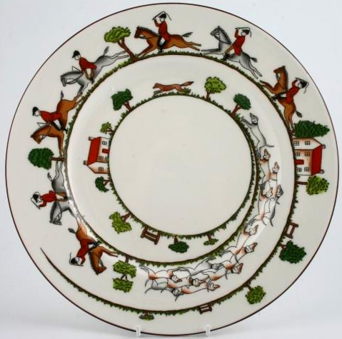 Crown Staffordshire Hunting Scene China