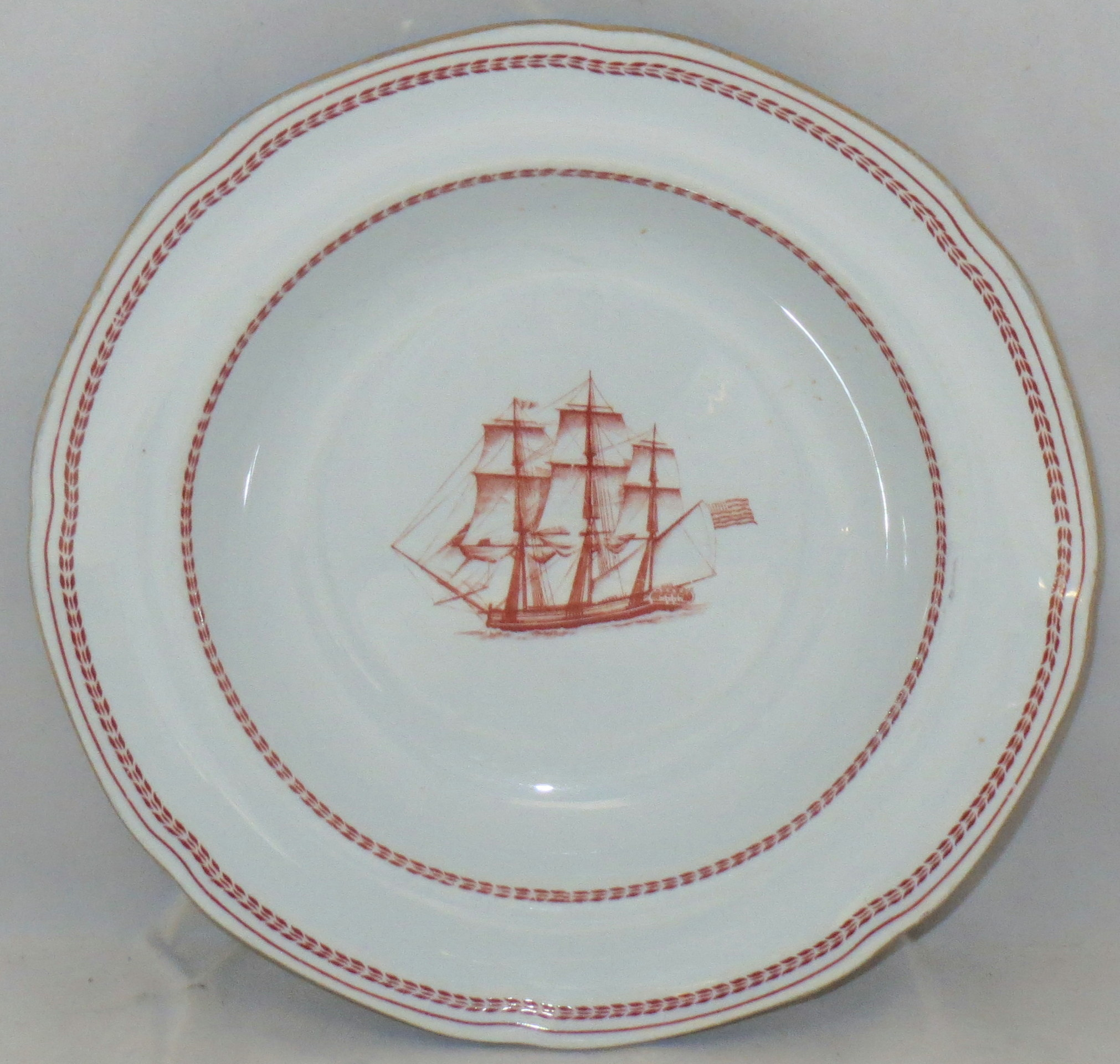 Spode Trade Winds-Red Rim Soup Bowl