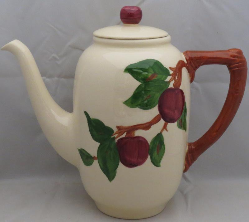 franciscan apple american backstamp coffee pot lid imperfect ebay. Black Bedroom Furniture Sets. Home Design Ideas