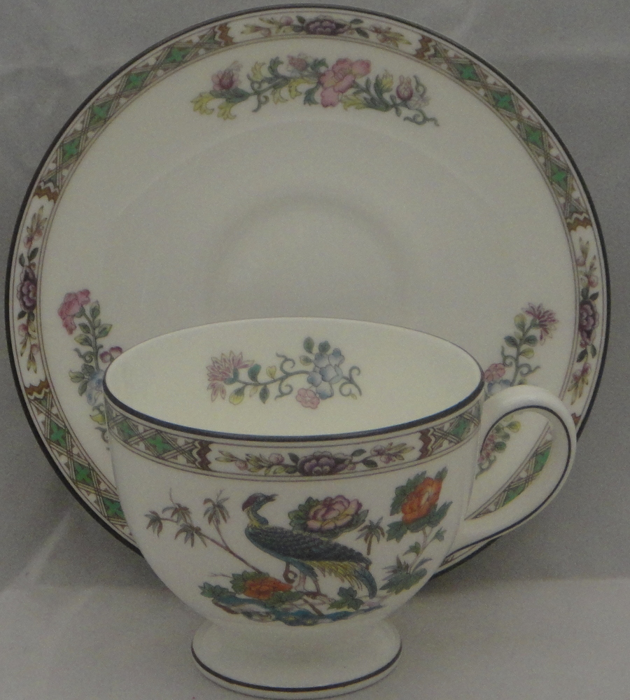 Wedgwood Baby Gifts Uk : Wedgwood kutani crane leigh shape footed cup saucer set