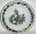 Royal Worcester Herbs - Green Trim Dinner Plate